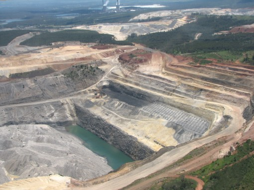 Photo of open cut coal mine
