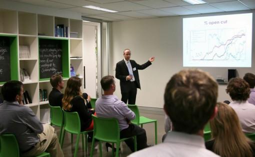 Scott Losee presenting Mining Sustainability Seminar