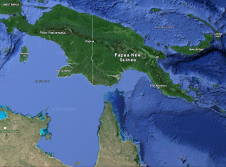 map view of Papua New Guinea