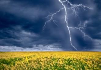 image of rainfall and lightning